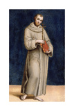 St. Francis of Assisi, Panel from the Predella of the Colonna Altarpiece, C.1502 Giclee Print by  Raphael
