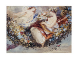 Flora and Zephyr Giclee Print by John James Chalon