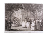 The Gardens of Carlton House with Neapolitan Ballad Singers, Engraved by William Dickinson… Giclee Print by Henry William Bunbury