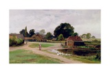 Between Church End and Flitwick, Bedfordshire Giclee Print by Leopold Rivers