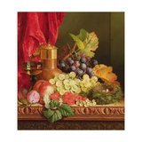 Grapes, Peaches, Plums and Other Fruit Giclee Print by Edward Ladell
