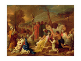 Moses and the Brazen Serpent, C.1653-54 Giclee Print by Sebastien Bourdon