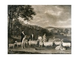 Portrait of Thomas William Coke, Esq. (1752-1842) Inspecting Some of His South Down Sheep with Mr… Giclee Print by Thomas Weaver