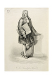 Sir Christopher Wren (1632-1723), Engraved by James Godby (Fl.1790-1820), Pub. by Edward Orme, 1815 Giclee Print by Giovanni Battista Cipriani