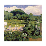 Picnic in May, Summer Day, 1906 Giclee Print by Karoly Ferenczy