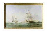 Whalers Entering the Tyne, C.1830 Giclee Print by John Wilson Carmichael