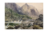 Rapids, Romsdal, Norway, 1847 Giclee Print by William West