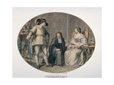 Oliver Cromwell Discovering His Chaplain, Jeremiah White, on His Knees before His Youngest… Giclee Print by Giovanni Battista Cipriani