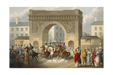 Entrance of the Allies into Paris, Engraved by Matthew Dubourg (Fl.1813-20) from 'Historic,… Giclee Print by John Heaviside Clark