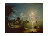 Moonlight Scene, Southampton, 1820 Giclee Print by Sebastian Pether