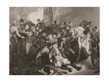 The Death of General Sir Ralph Abercromby, Illustration from 'England's Battles by Land and Sea'… Giclee Print by Thomas Stothard