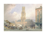The Town Hall, Bruges Giclee Print by William Callow