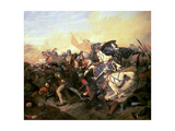 The Battle of Cassel on 23rd August 1328 Giclee Print by Henry Scheffer