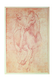 Study of a Horse and Rider, C.1481 Giclee Print by  Leonardo da Vinci