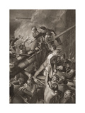 The Death of Captain Faulknor, Illustration from 'England's Battles by Sea and Land' by Lieut.… Giclee Print by Thomas Stothard