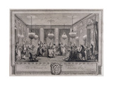 The Evening Dress Ball at the House of Monsieur De Villemorien Fila, Engraved by L. Provost Impression giclée par Augustin De Saint-aubin