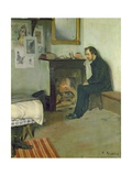 The Bohemian (Portrait of Erik Satie in His Studio in Montmartre), 1891 Giclee Print by Santiago Rusinol i Prats