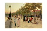 Walk Along the Embankment at Chelsea Giclee Print by Frederick Brown