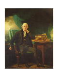 Portrait of Adam Rolland of Gask Holding a Quill Giclee Print by Sir Henry Raeburn