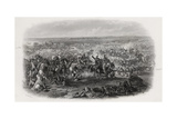 Battle of Aliwal, India, 28th January 1846, Engraved by J.J. Crew Giclee Print by Michael Angelo Hayes