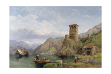 Landscape in Northern Italy, C.1859 Giclee Print by George Clarkson Stanfield