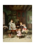 The Happy Family Giclee Print by Andre Henri Dargelas