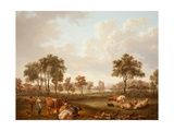 Landscape with Figures, 1812 Giclee Print by Charles Towne