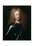 Portrait of John Campbell, 2nd Duke of Argyll (1678-1743) in Armour with a Garter Sash, C.1710 Giclee Print by William Aikman