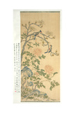 Tapestry Hanging Scroll, Qianlong Period (1736-95) Giclee Print by Qing Dynasty Chinese School