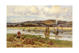 The Reed Gatherers Giclee Print by Sir David Murray