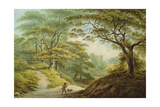 Auckland Castle, Co. Durham - View over the River Gaunless, with Bishop Cosin's Chapel Giclee Print by John Warwick Smith