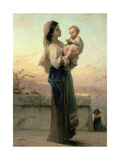 Madonna and Child Giclee Print by Adolphe Jourdan