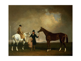 Mr Sadler's 'Decisive' Held by His Trainer with the Jockey John Day Jnr., Stockbridge Racecourse,… Giclee Print by George Cole