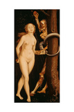 Eve, the Serpent and Death Giclee Print by Hans Baldung Grien