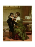 George Herbert and His Mother Giclee Print by Charles West Cope