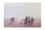 Mussel Gatherers Giclee Print by Hector Caffieri