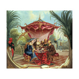 Chinese Tea Giclee Print by Jacques Vigoureux Duplessis