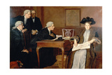 Defendant and Counsel, 1895 Giclee Print by William Frederick Yeames
