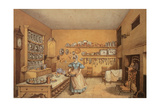 Kitchen at Langton Hall Giclee Print by Mary Ellen Best