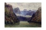 Romsdal Fjord at Midnight, 1847 Giclee Print by William West