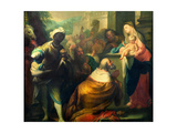 The Adoration of the Magi, Detail of the Three Kings, C.1750 (Detail) Giclee Print by Andrea Casali
