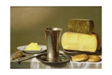 Still Life with Beaker, Cheese, Butter and Biscuits, 1640s Giclee Print by Floris van Schooten