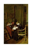 At Her Desk Giclee Print by Henry Thomas Schafer