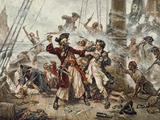 The Capture of the Pirate Blackbeard, 1718 Giclee Print by Jean Leon Gerome Ferris
