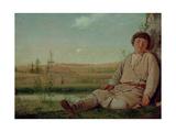 Sleeping Shepherd Boy, 1823-26 Giclée-Druck von Aleksei Gavrilovich Venetsianov
