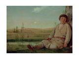 Sleeping Shepherd Boy, 1823-26 Giclee Print by Aleksei Gavrilovich Venetsianov