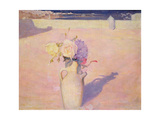 Flowers in a Vase Against a Background of Mustapha, Algiers, 1891 Giclee Print by Charles Edward Conder