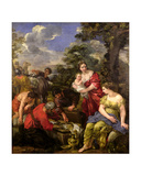 Laban Seeking His Idols Giclee Print by Pietro Da Cortona