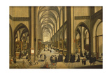Interior of Antwerp Cathedral with the Seven Sacraments, 1590 Giclee Print by Hendrik van Steenwyck