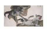 Sketches of a Kitten Giclee Print by Alexandre-Francois Desportes